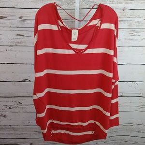 Free People long sleeve striped tunic size M